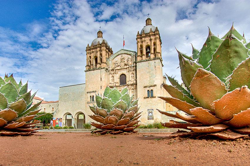 The Church of Santo Domingo de Guzmán is a popular tourist destination in Oaxaca city's historic center.