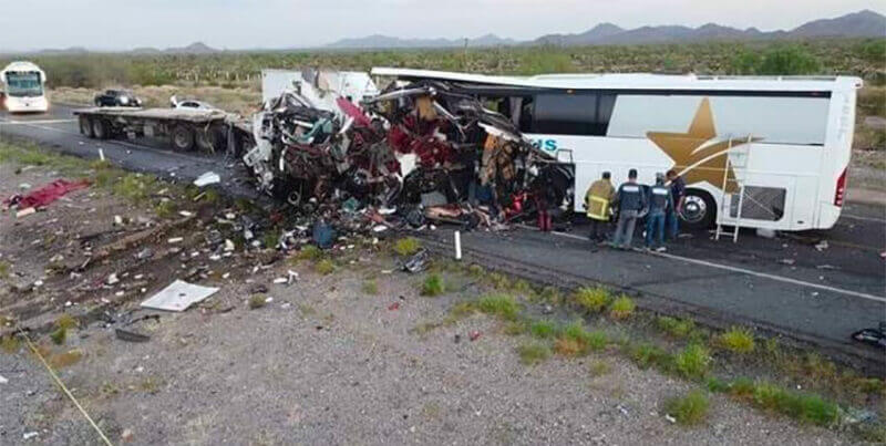 Thursday's accident scene in Sonora.